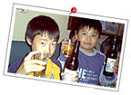 Kids drinking beer