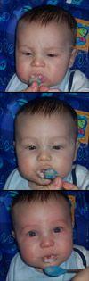 Rylan eating
